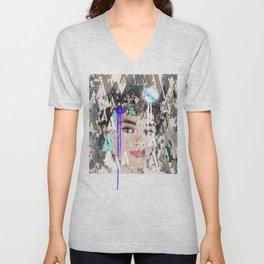 Audrey Type Abstract Art Unisex V-Neck