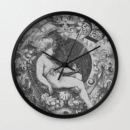 Cherub   Angels Vintage   Victorian   Sketch   Letter B Wall Clock
