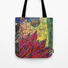 Red Leaf Evening Tote Bag