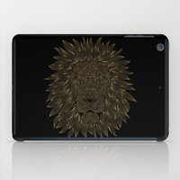 lannister iPad Cases featuring lion / black by Anna Grunduls