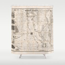 Map of Marion County, Florida (1892) Shower Curtain