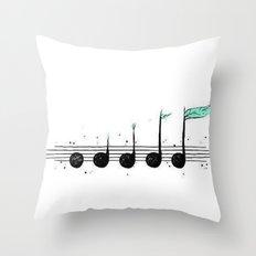 Growing Music Throw Pillow