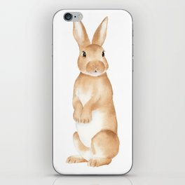 Rabbit Watercolor iPhone Skin