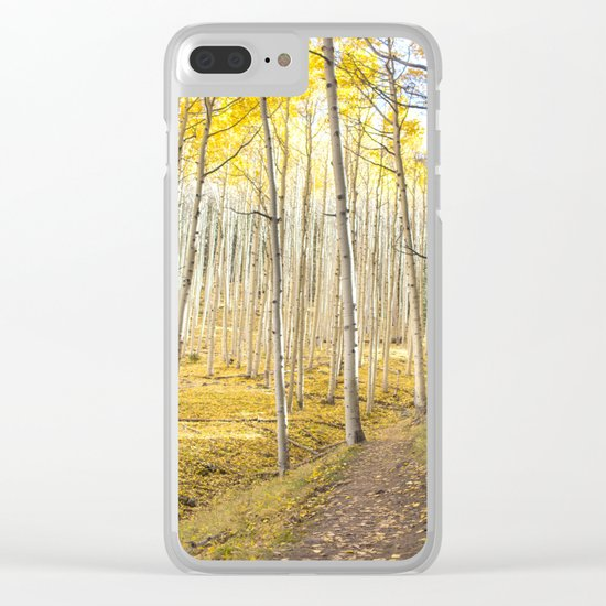 Fall Colors, Yellow Woods Clear iPhone Case