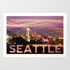 Seattle long exposure  Art Print