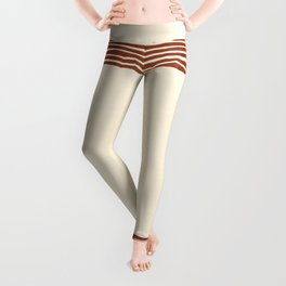 Band in Rust Leggings