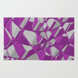 3D Abstract Futuristic Background Rug