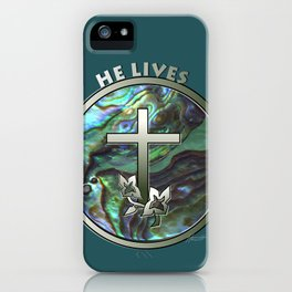 He Lives - Cross iPhone Case