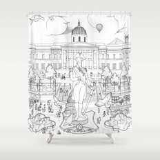 Pigeons Perspective Shower Curtain