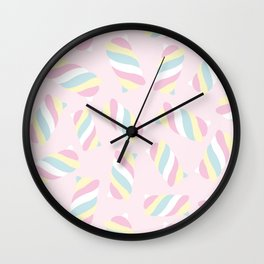 Marshmallow Meadows Wall Clock