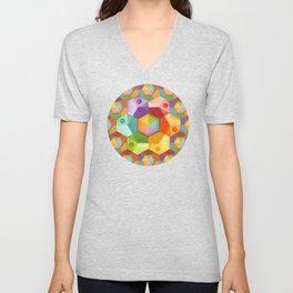 Rainbow Hexagons Unisex V-Neck