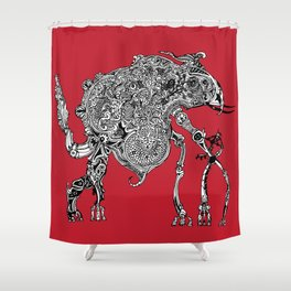 Olipwaddle Shower Curtain