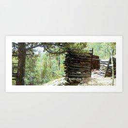 Colorado Gold Rush Mine and Cabin, No. 3 of 3 Art Print