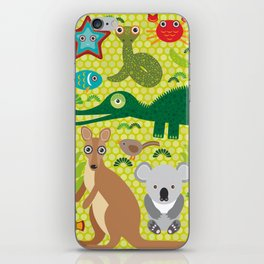 Animals Australia snake, turtle, crocodile, alliagtor, kangaroo, dingo iPhone Skin