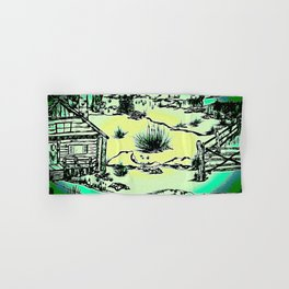 Top of the Rocky Mountains - Ink Hand & Bath Towel