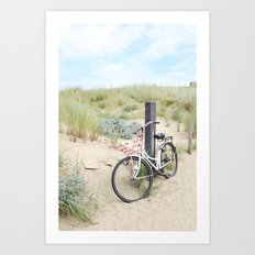 Seaside Bicycle Art Print