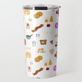 Breakfast Pattern - Yummy Traditional Foods Travel Mug