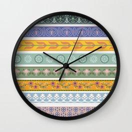 Vintage Ornament Pattern Wall Clock