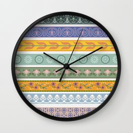 Vintage Ornament Pattern Wall Clock