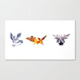 The 3 Legendary Birds Canvas Print