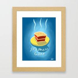 EAT Spaghetti Cake Framed Art Print