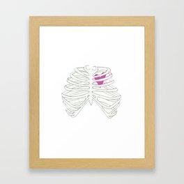 Caged Heart Framed Art Print