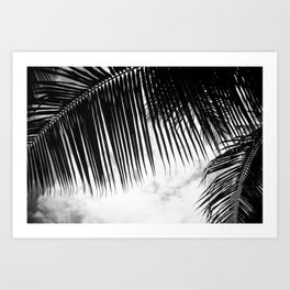 maui paradise palms hawaii monochrome Art Print
