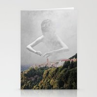 fog Stationery Cards featuring fog by yungbootyqueen