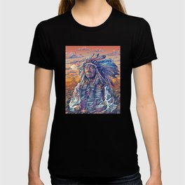 native american portrait-red cloud T-shirt