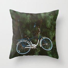 Bicycle Tree Throw Pillow