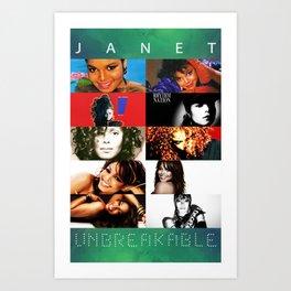 Janet Jackson Unbreakable Art Print