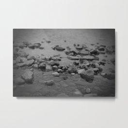 the shallows // river rocks Metal Print