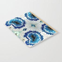 Stone pattern (Blue&Gold) Notebook