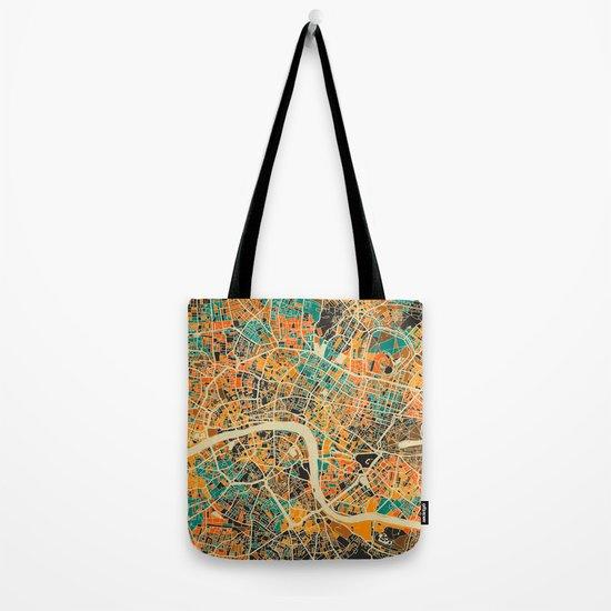 London Mosaic Map #3 Tote Bag