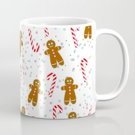 Gingerbread man wishes you Merry Xmas! - White Coffee Mug