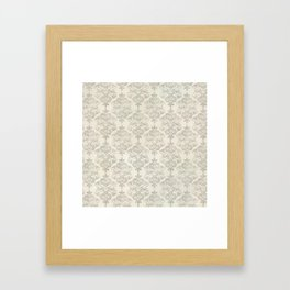 Beige Watercolor Damask Pattern Framed Art Print