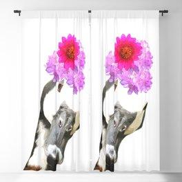 Goose funny farm animal illustration Blackout Curtain