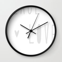 Peace, Love and Cats Wall Clock