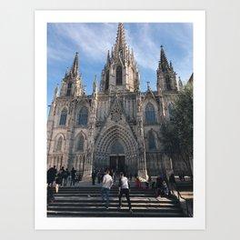 Barcelona Catherdral Art Print