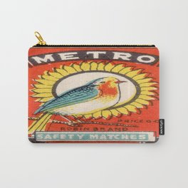 Vintage poster - Metro Matches Carry-All Pouch