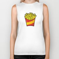 french fries Biker Tanks featuring French Fries by Sifis
