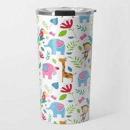 Kids Jungle Pattern Travel Mug