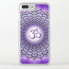 Sahasrara Chakra - Crown Chakra I - Series II Clear iPhone Case