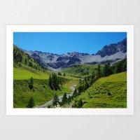 switzerland Art Prints featuring Switzerland by Claudio Del Luongo