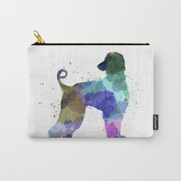 Afgan Hound 01 in watercolor Carry-All Pouch