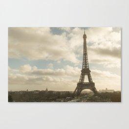 Paris in sepia tones Canvas Print