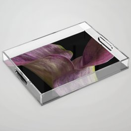 Purple Calla Lily Flowers Acrylic Tray