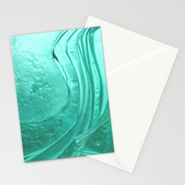 Deep sea blue glass texture Stationery Cards