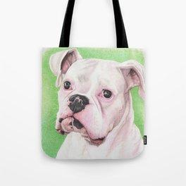 The White Boxer Tote Bag
