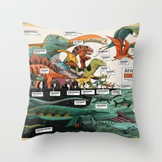 BEHOLD! THE DINOSAURS!  Throw Pillow